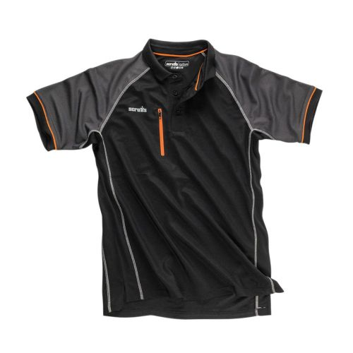 Scruffs Trade Active Polo Shirt Black Large 44/46""